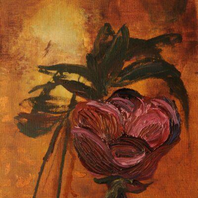 Une fleur du mal (2012, oil on canvas 41x35)