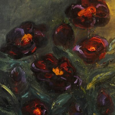 Rosa Muscosa Nuits de Young ( 2012,  oil on canvas 46x38)