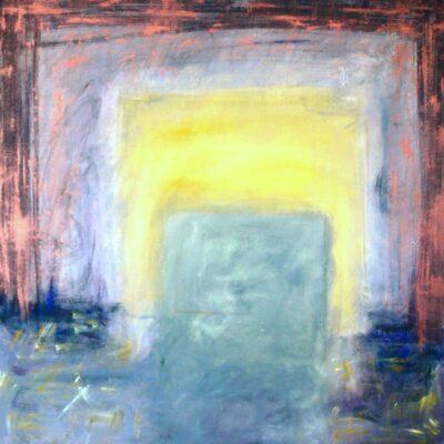 Ilmestys (1992, öljy kankaalle, 100 x 100)