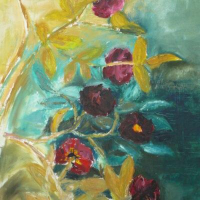 Rosa Muscosa Sammalruusu (2005, öljy kankaalle, 93×63)